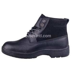 Embossed Leather / PU Outsole Safety Boots