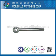 Feito em Taiwan Stainless Steel DIN444 Small Size M3 Eye Bolt