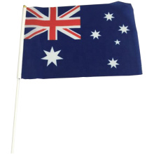Bandera de mano de Australia promocional de poliéster nacional personalizado