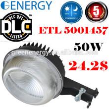 Fotocélula DLC ETL led Atardecer a la luz de granero Dawn 20w-70w LED luz de calle y luz de patio y la luz de seguridad led 50w con fotocélula