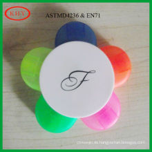 Non-toxic ink flower highlighter for kids which conform to test standard