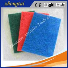 Colorido aluminio óxido / carburo de silicio 4 '' * 8 '' / 5 '' * 9 '' / 6 '' * 9 '' cocina con estropajo no abrasivo