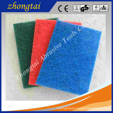 colourful Aluminum oxide/Silicon carbide 4''*8''/5''*9''/6''*9'' kitchen using non-abrasive scouring pad