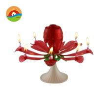 Rose music flower shape candle