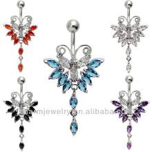 Элегантная бабочка Кнопка Кольцо Кольцо ювелирные изделия Пирсинг BER-002