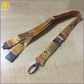 Silkscreen printing polyester roll metal lanyard clips