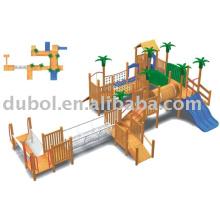 playground  (outdoor slide, play center)