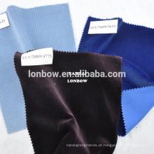 Argélia Royal azul 100% algodão tecido têxtil de veludo meia