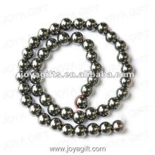 Perles rondes en hématite en vrac de 9MM 16 po