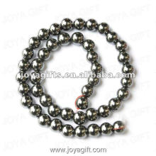 9MM Loose Magnetic Hematite Round Beads 16""