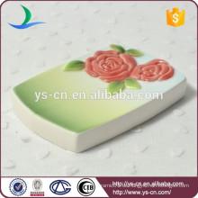 YSb40002-01-sd Grünes keramisches Badezimmer-Set, Badzusatz-Seifenschale
