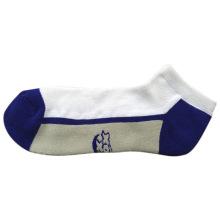 Мужчины Женщины Терри Хлопок Цвет Спортивные носки (tcc-02)