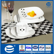 20pcs square household ware ceramic BSCI certified factory