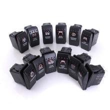 12V 24V Spot Light Toggle Bateau Rocker Switch Carling Style rétroéclairé 5pins Spdt LED