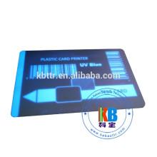 impressão de cartão de pvc branco transparente fita de uv invisível 1000 impressões