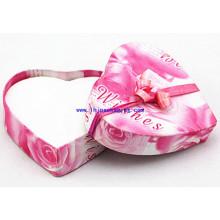 Caja de papel de empaquetado del regalo de la forma del corazón de la alta calidad para la joyería