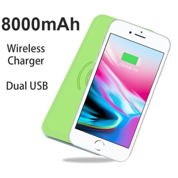 Carregador sem fio 2018 Power Bank para iPhone X