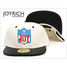 Logo-Stickerei-Patchwork-Leder-Bboy-Baseballmütze
