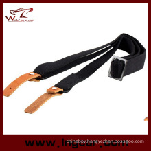 Airsoft Leather Hook Ak 2-Point Tactical Rifle Sling Belt