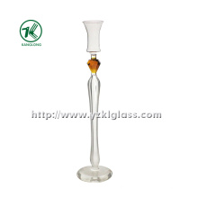 Single Glass Candle Holder for Decoration (8.5*8.5*37)