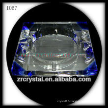 K9 Blue and White Crystal Ashtray
