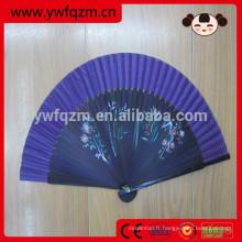 Hotsale décorations pliable ventilateur en bambou espagnol