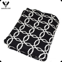 2016 Winter Warm Acrylic Chain Jacquard Knit Outdoor Blanket