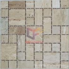 Natural Beige Travertine Mosaic (CFS876)