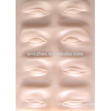 Peau de pratique en caoutchouc pour sourcils 3D pour maquillage permanent
