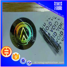 Label Sticker Hologram PET VOID 3D