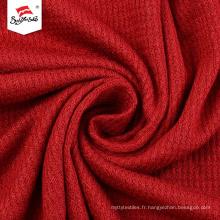 Tissu thermique matelassé en tricot de rayonne spandex teint