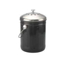 Recipiente de compost negro Herramientas de cocina de 1 galón para almacenamiento