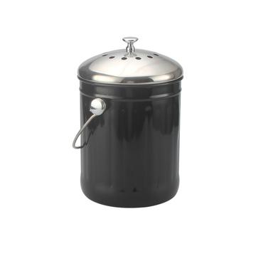 Black Compost Bin 1 Gallon Kitchen Tools ForStoraging