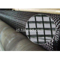 PET polyester Biaxial Geogrid dilapisi PVC