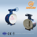 carbon steel wcb dn1200 weld butterfly valve bidirectional hard seal