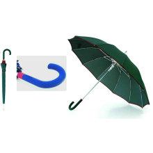 12 Rippen automatische Fiberglas Windproof Edge Umbrella (YS-SM25123515R)