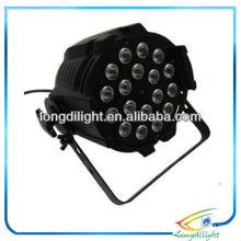 Black 18 x 10W RGBW LED Alu Quad Par 64