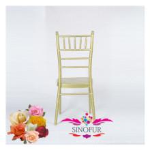 Mobília de casamento elegante cadeira de banquete de alumínio