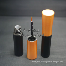 Cone shape cosmetic eyeliner bottle with applicator