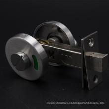 Cerradura muerta inodoro con perilla de acero inoxidable con ranura de emergencia e indicador de puerta