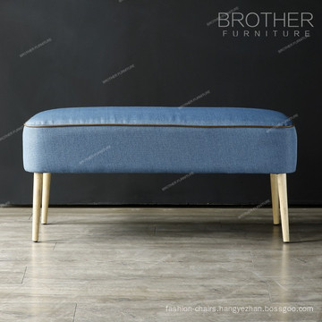No arm bedroom furniture massager Ottoman With piping style