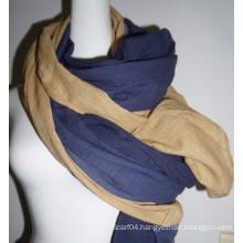 Fashion Two-tone Cotton Scarf