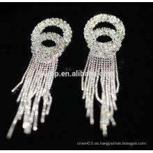 2015 Pendientes de plata cristalinos elegantes del perno prisionero de la boda de la promoción
