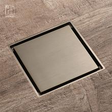 HIDEEP Accessoires de salle de bain Miroir Drain de plancher en laiton