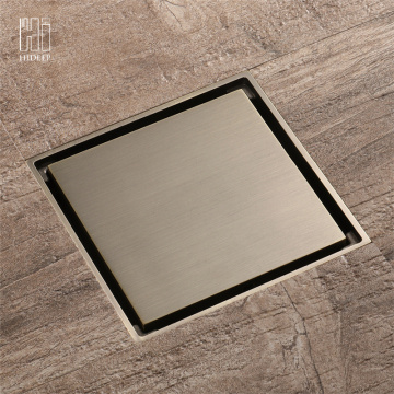 HIDEEP Bathroom Accessories Mirror Brass Floor Drain