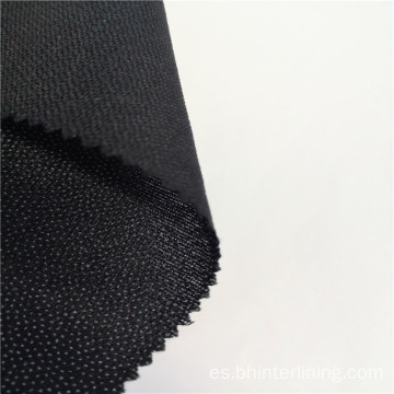 Camisa fusible tejida con tejido interlining para tapeta de cuello.