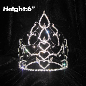 Wholesale Pageant Crowns In Heart Shaped