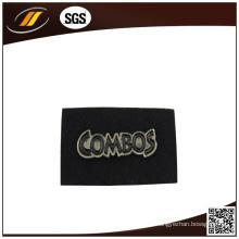 Etiqueta de vestuário de couro preto e preto (HJ0329)