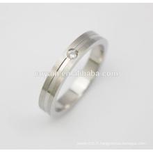 Bijoux de mariage bijoux simples anneaux de mariage avec cristaux