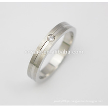 Anéis de casamento jóias desenhos de anel de casamento simples com cristal